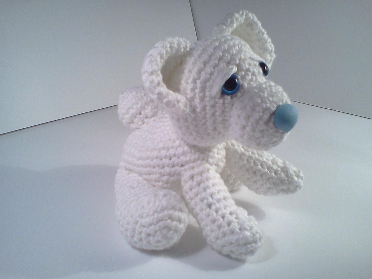 Stuffed Polar Bear Pattern Ava baby polar bear ami'pal