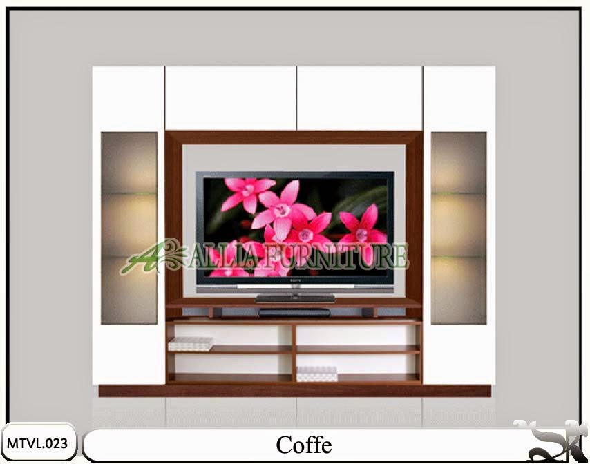 Lemari tv lcd model minimalis modern Coffe