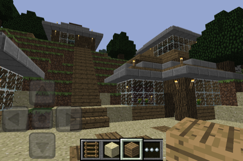 how to build a house in minecraft pocket edition lite