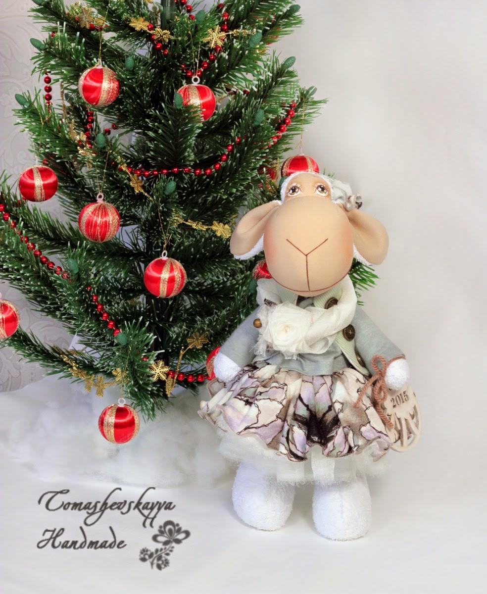 Картинка овечка тильда новый год