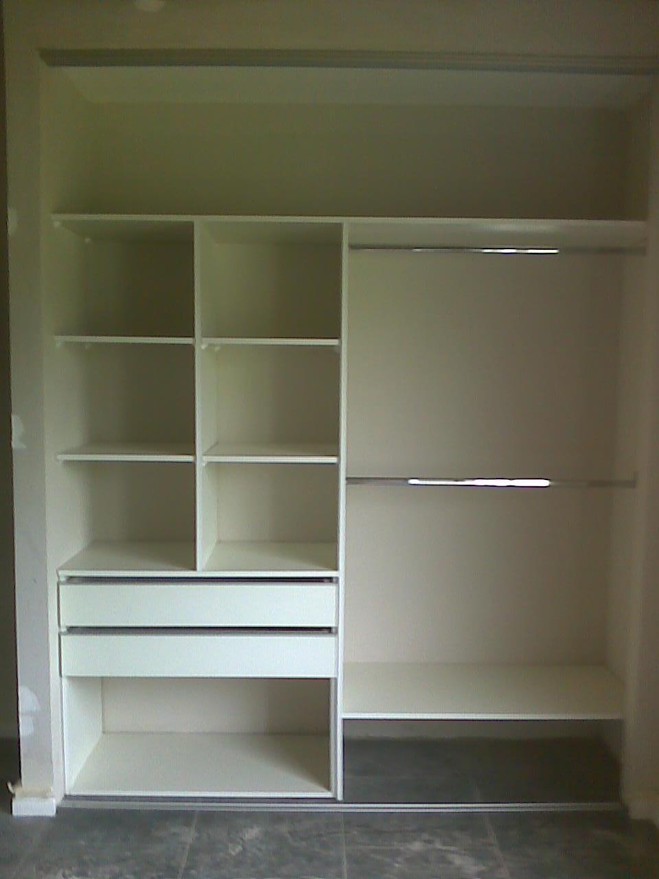 Muebles a medida tandil interiores para placard 2 mts 3 for Roperos de melamina para dormitorios