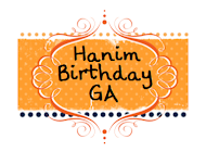 hanim Birthday Giveaway : Join!