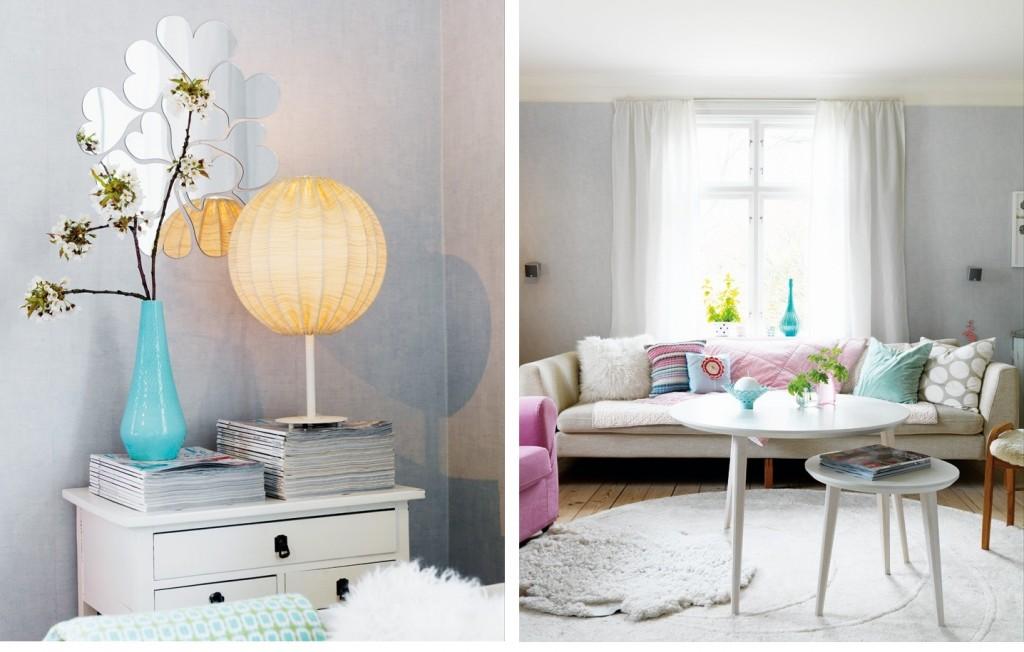 pastell wohnzimmer dekor