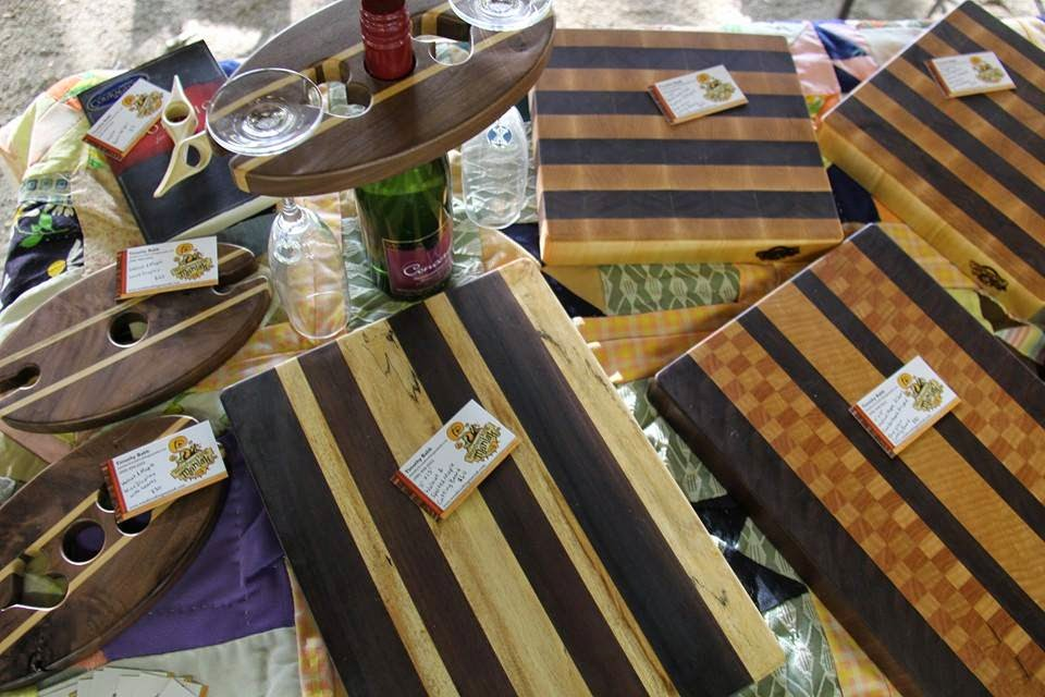 Cutting Boards, Wine Displays, and Book Helpers - by Woodworking Maniak