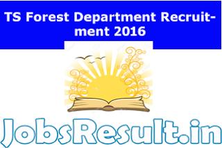 TS Forest Department Recruitment 2016
