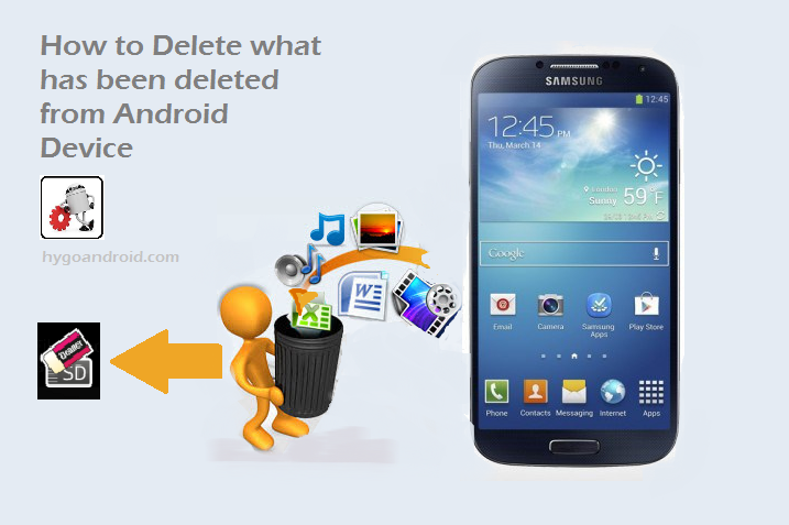How to Delete what has been deleted from Android phone