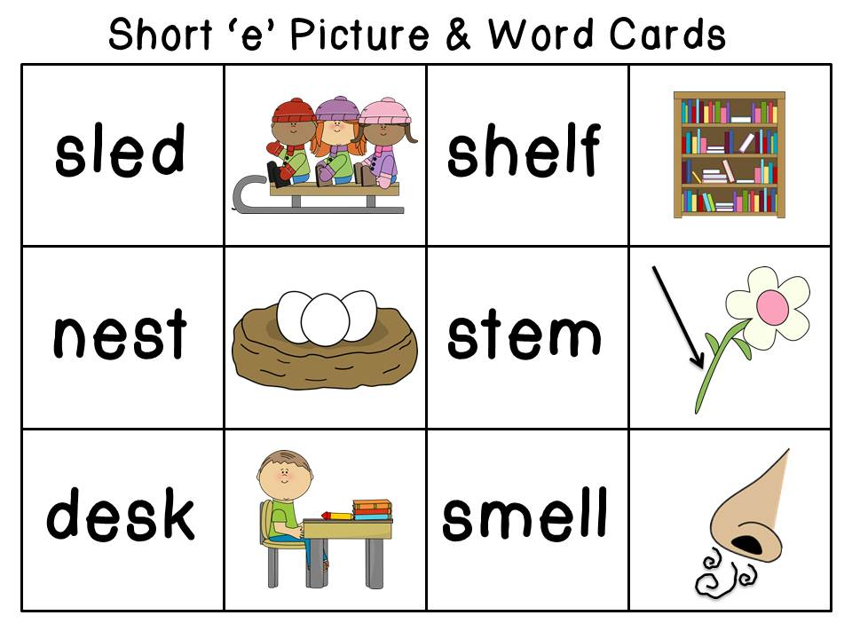 Start with the short e sound in picture dictionary format for Start dictionary