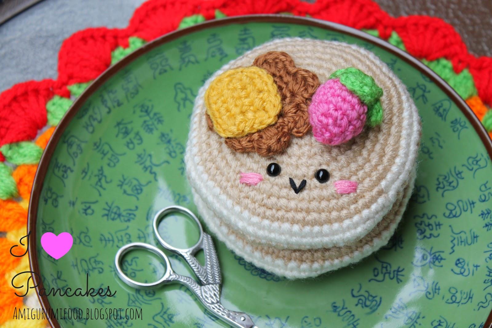 Amigurumi Patterns Free Food : Amigurumi Food: Amigurumi Pancakes Free pattern