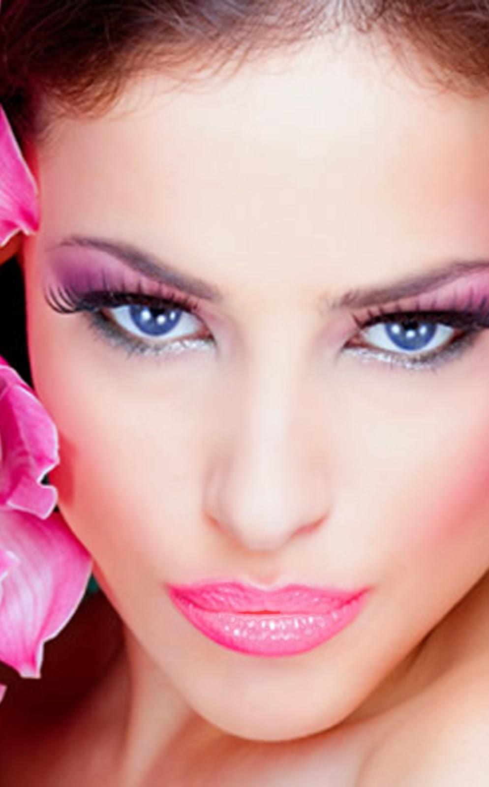 Hollywood News: MAKEUP CLOSE UP - Applying Pink Bridal Makeup