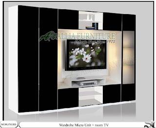 lemari modern minimalis tv unit Micro