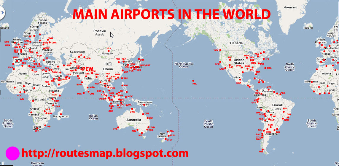 Airlines And Airports Information: List Of Airports In The