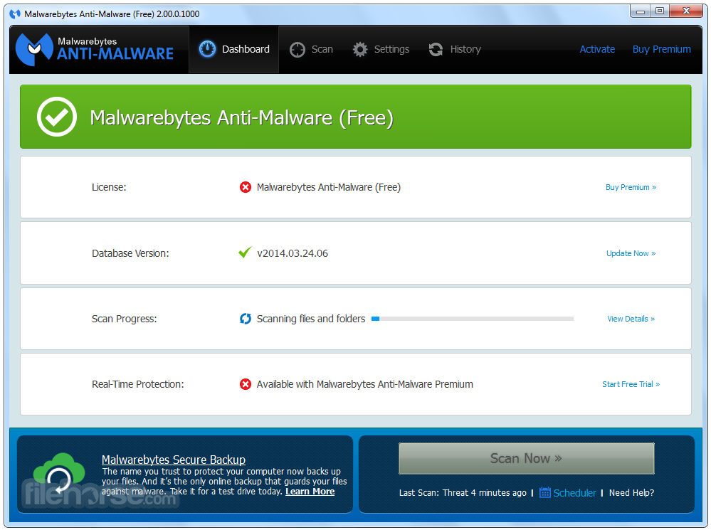 Download the latest version of Malwarebytes free in ...