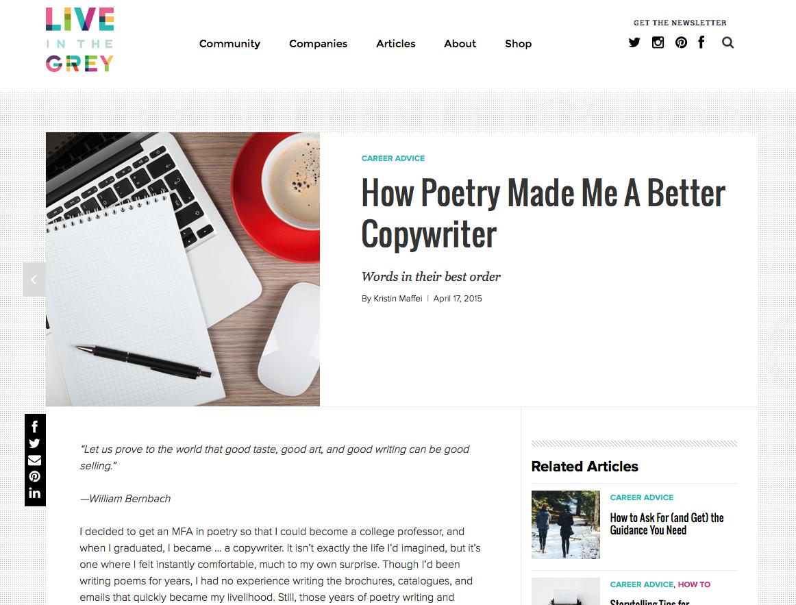 Poetry Copywriting