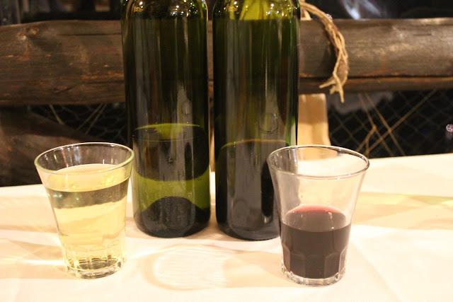 Wines at La Tagliata, Positano, Italy