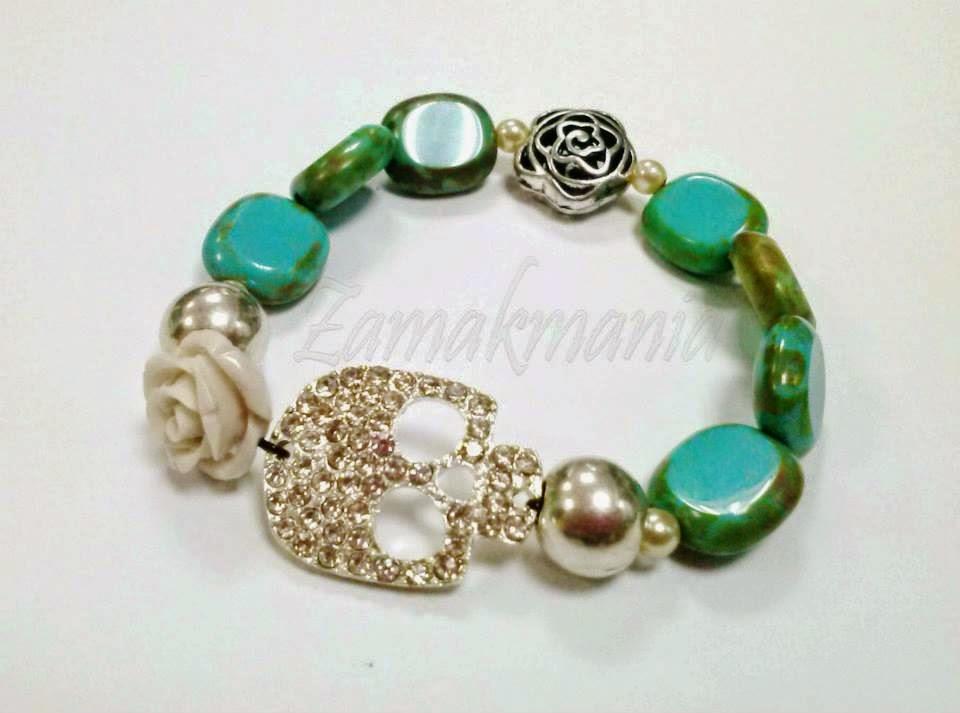 halloween calavera pulsera skull bracelet
