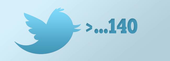 Como sobrepasar los 140 caracteres en Twitter?