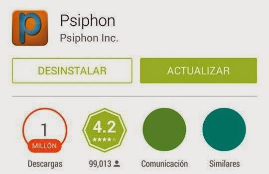 Internet Gratis Android con Psiphon Octubre 2014