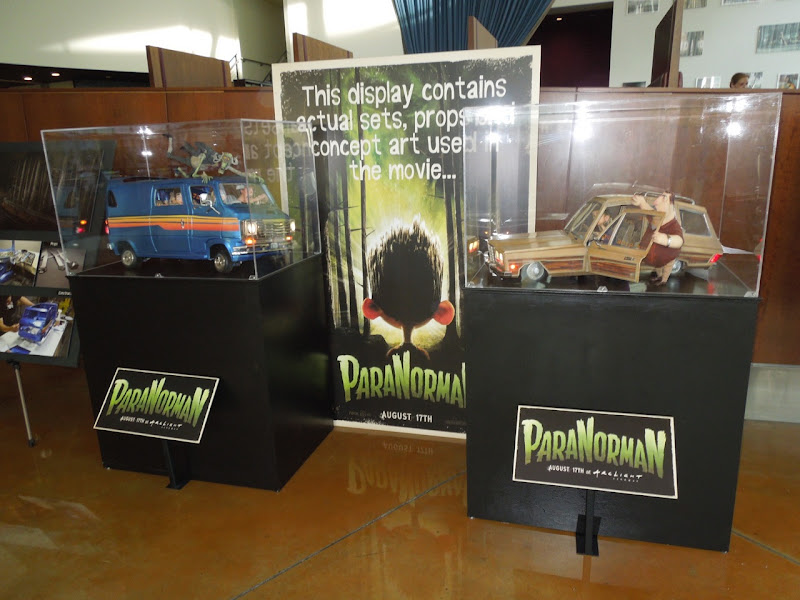 paranorman stop motion puppets and vehicles on display. Black Bedroom Furniture Sets. Home Design Ideas