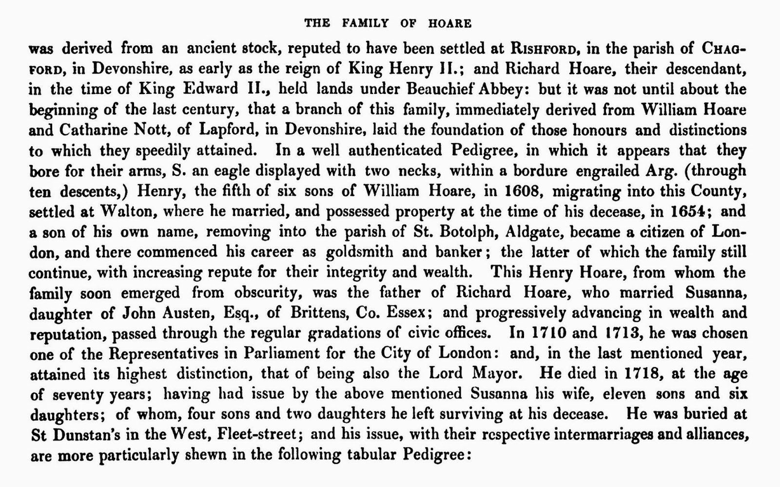 The Family of Hoare