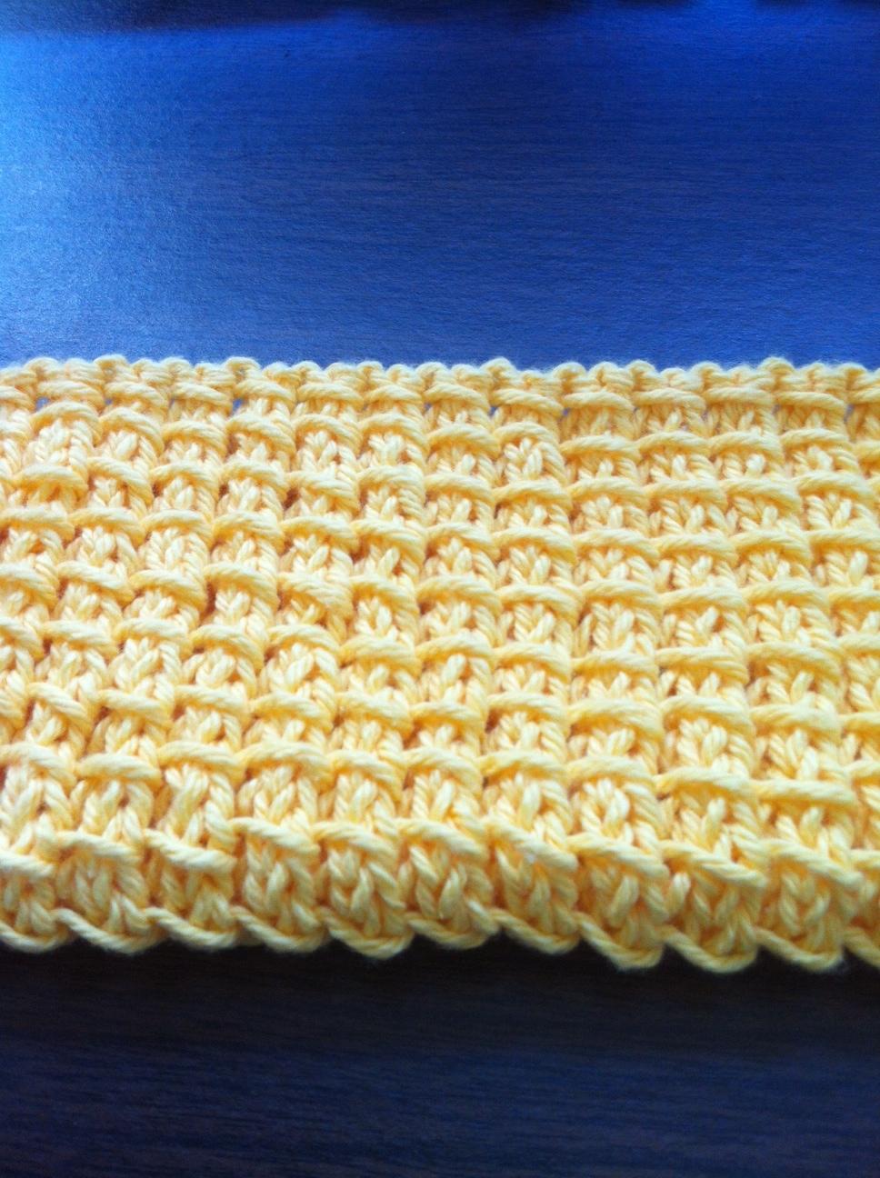 KnitFit: Pattern: bamboo stitch dishcloth