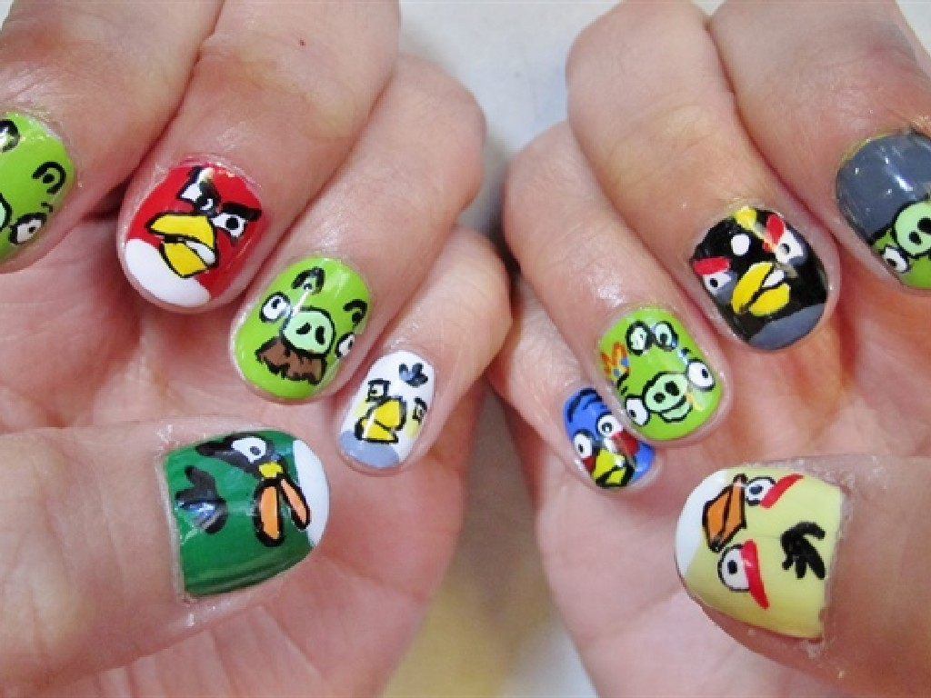 Cartoon Nail Designs