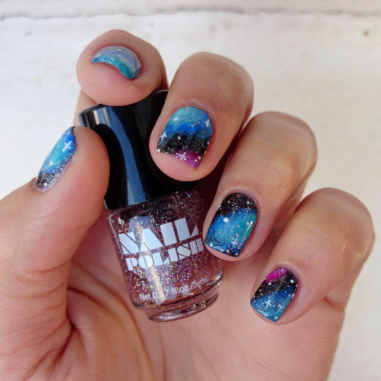 Hot Pink Galaxy Nail Products: Dahlia Nails: Guardians Of The Galaxy
