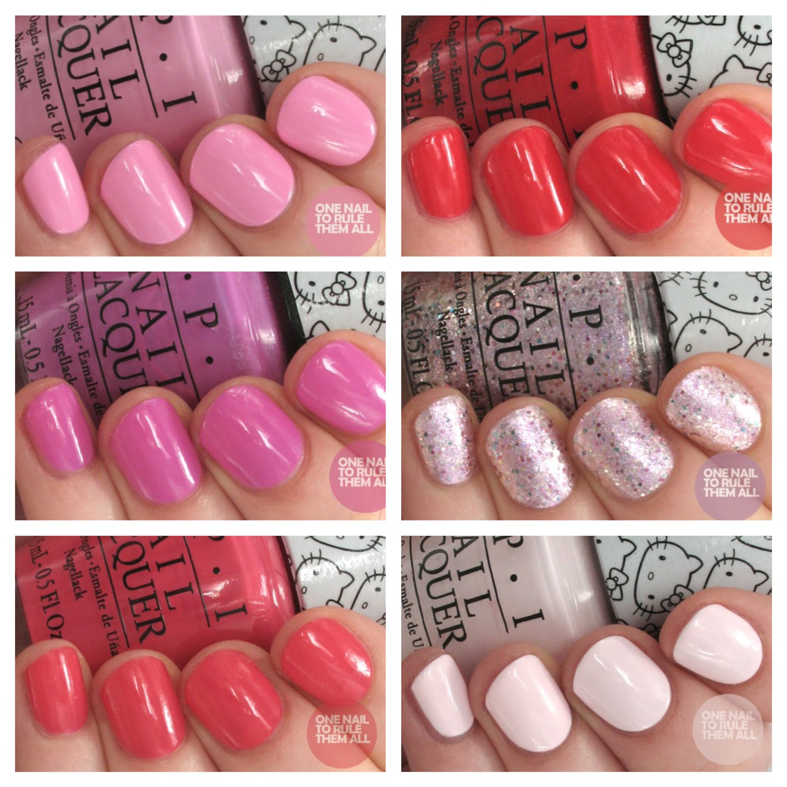 One Nail To Rule Them All OPI Hello Kitty Collection Review and