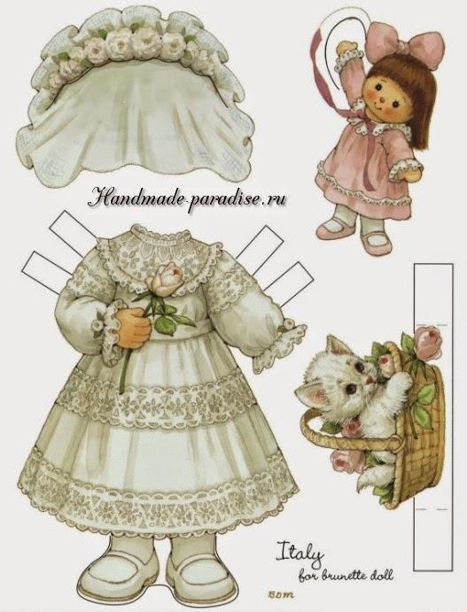 Бумажные куклы с одеждой для вырезания 5