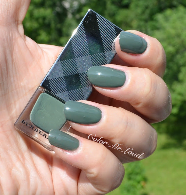 Black Poppy Nail Polish: Burberry Nail Polish #205 Khaki Green, #206 Cadet Green