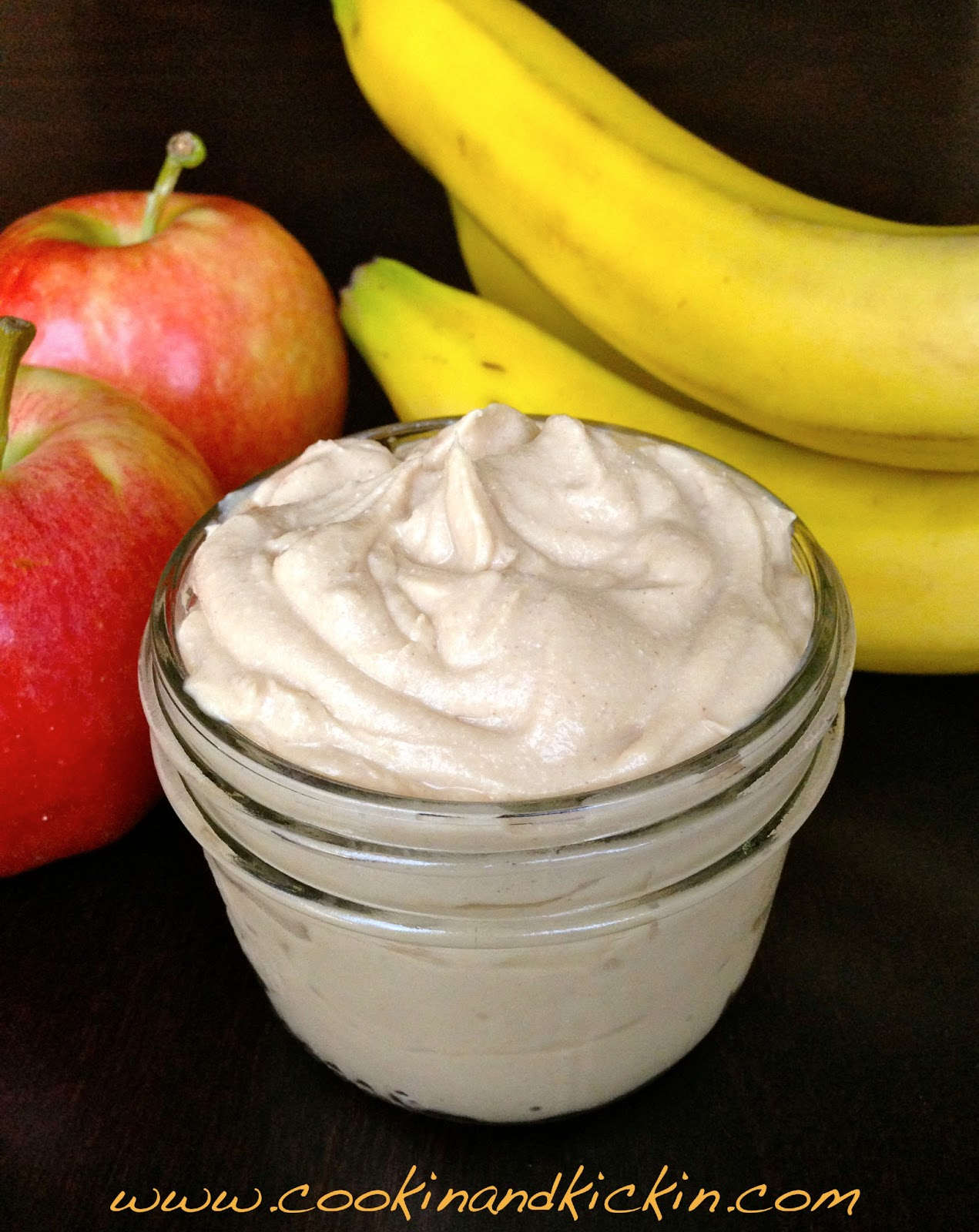 Healthy Peanut Butter Dip | Cookin' And Kickin'