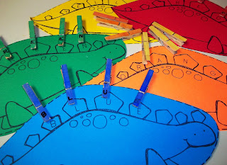 Fine Motor Skills Activities, Color Recognition, and Dinosaur Themed