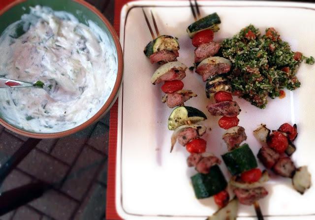 Grilled lamb kebabs recipe