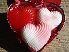 Swirled Heart Soaps