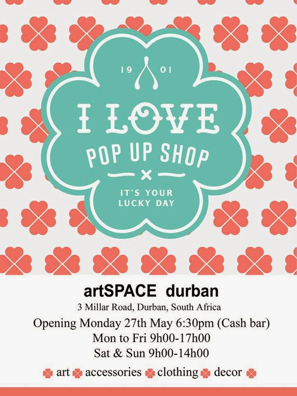 I Love Pop Up Shop by Genevieve Motley at artSPACE Durban