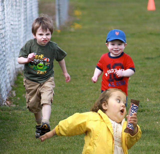 Run For Your Snickers Life Kid!