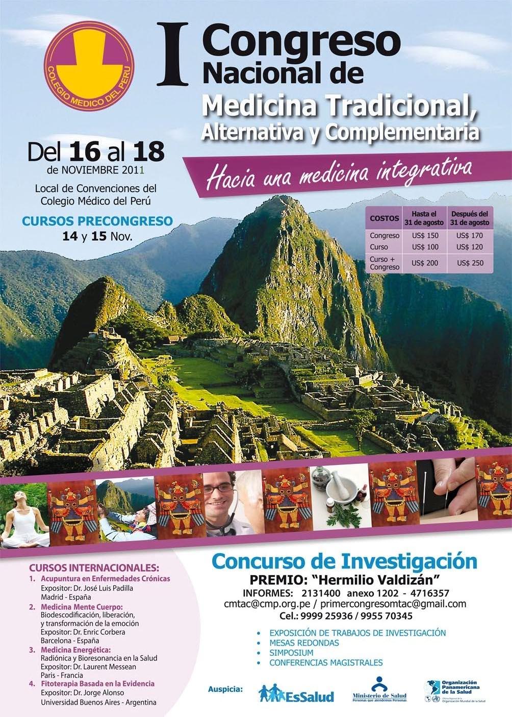 i congreso d medicina tradicional