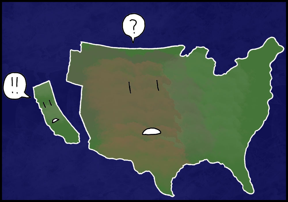 california is going to fall into the sea quiz question 1