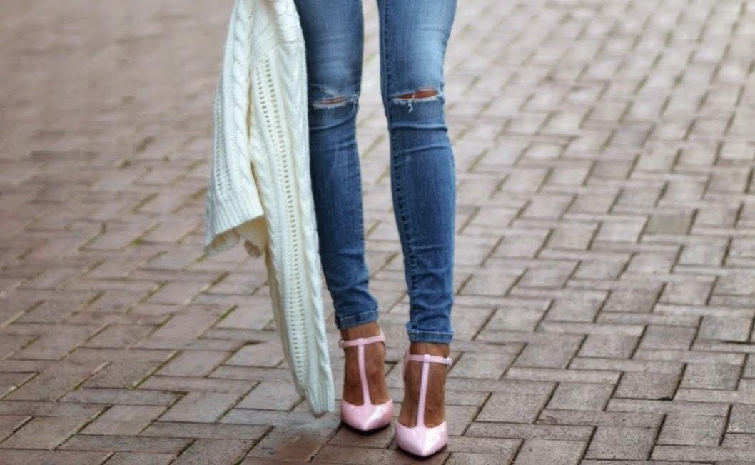 zara-ripped-skinny-jeans-zara-pink-patent-t-strap-heels