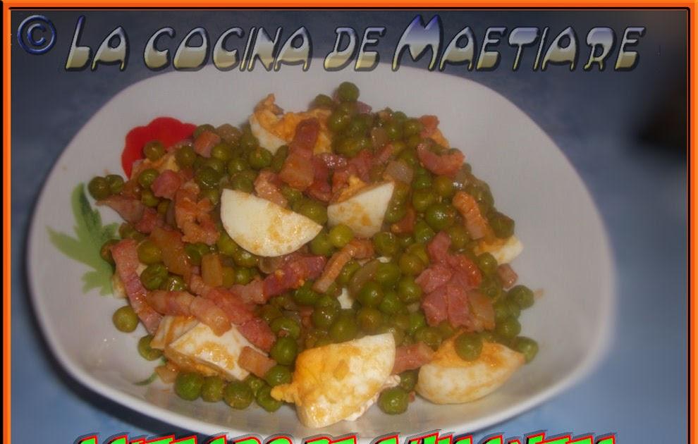 La cocina de maetiare salteado de guisantes for Cocinar guisantes congelados