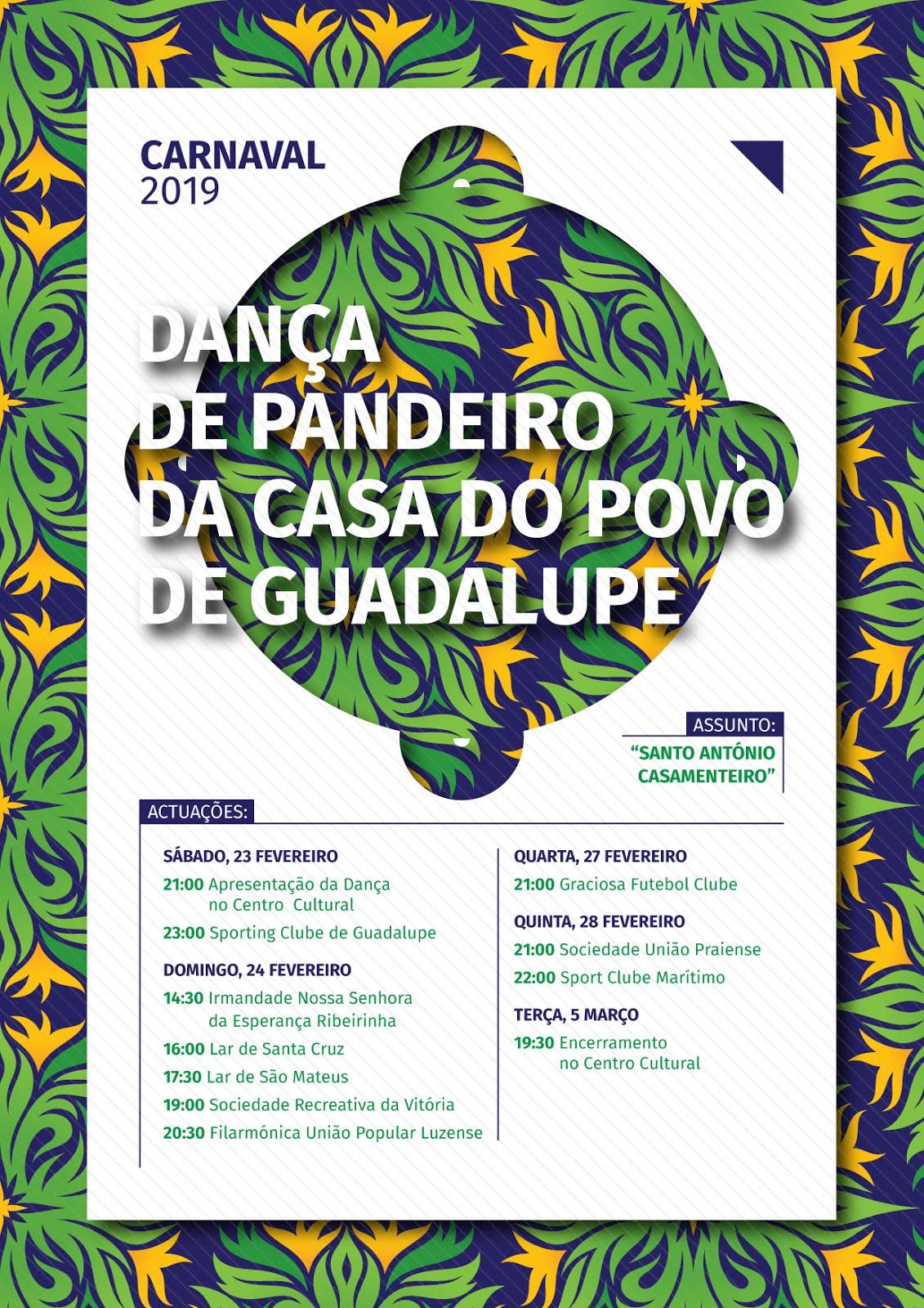"""Dança de Pandeiro da Casa do Povo de Guadalupe """" Santo António Casamenteiro"""""""