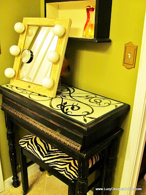 painted vanity table