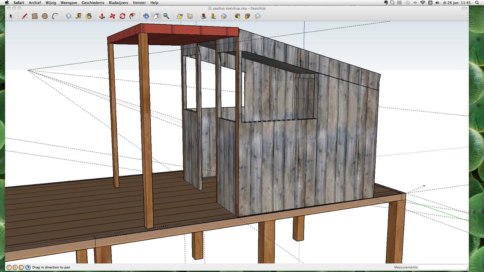 La fleurette bouw van de paalhut oftewel cabane sur for Tekenprogramma bouw
