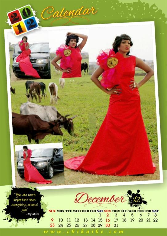 Too Late?? Actress Chika Ike Unveils 2012 Calendar. 13