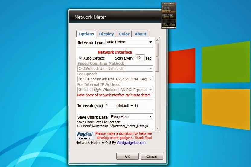 Network Meter Gadget Untuk Windows 7 x64bit 2