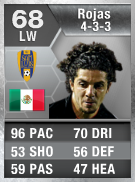 Guillermo Rojas 68 - FIFA 13 Ultimate Team Card - FUT 13