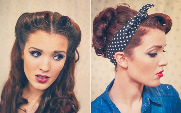50s pin up hairstyles : Retro Pin-up Style Hair Tutorials by The Freckled Fox! Wonder Forest ...