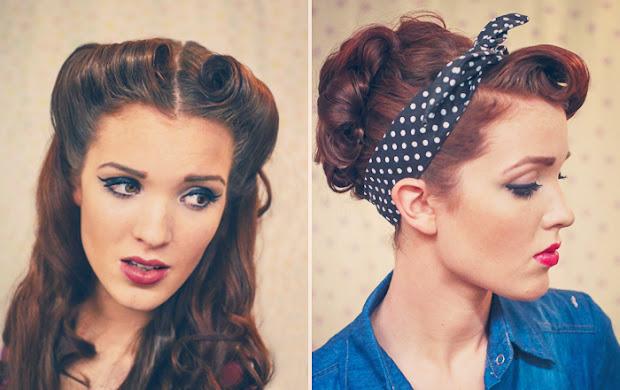 retro pin- style hair tutorials
