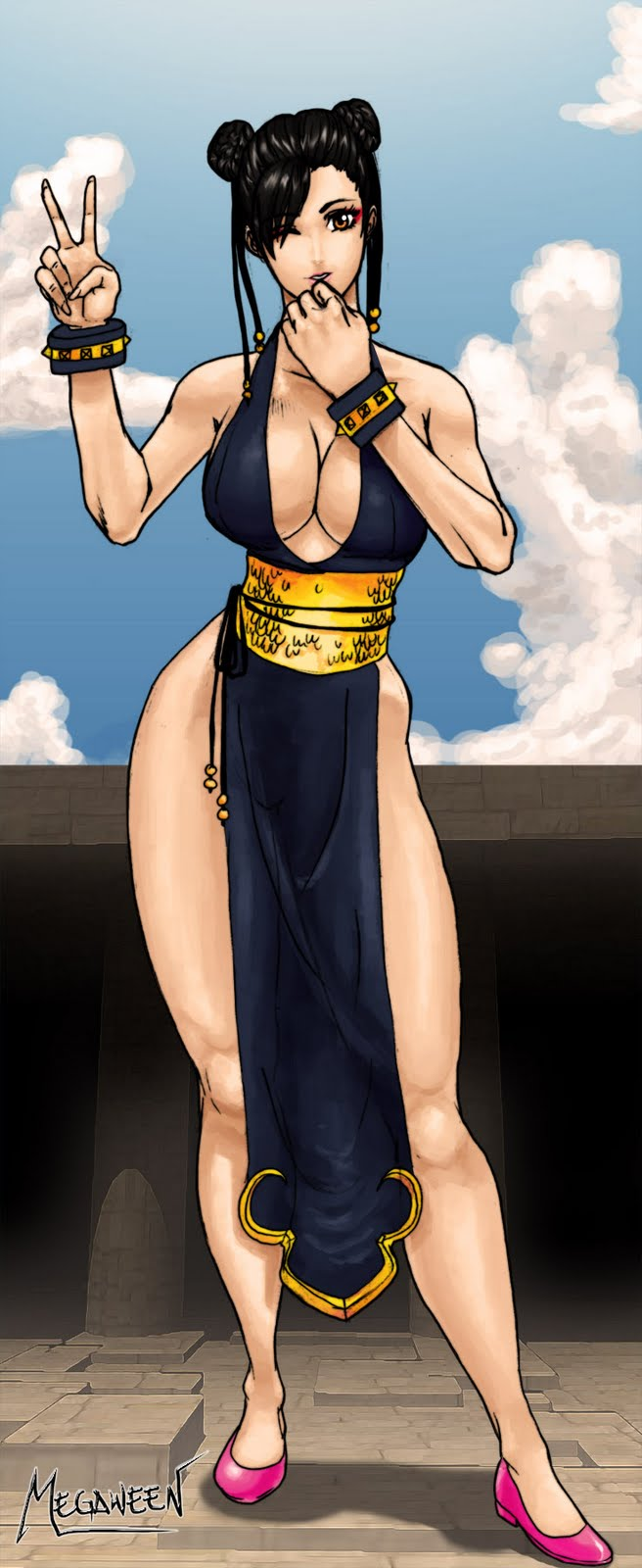 World anime pic & hot chun li  erotica girl