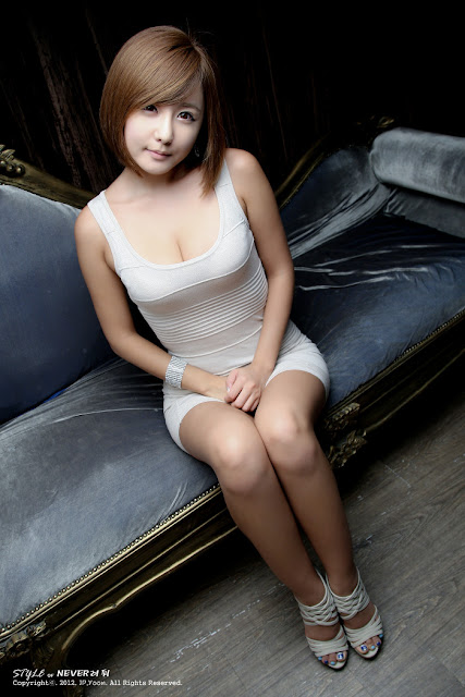 3 Ryu Ji Hye in White -Very cute asian girl - girlcute4u.blogspot.com
