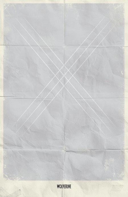 marko manev ilustração poster minimalista super heróis marvel Wolverine